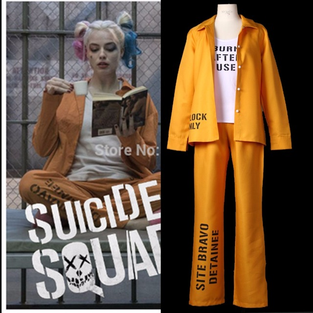 Cosplaydiy Adult Harley Quinn Cosplay Costumes Suicide Squad Women Prison Uniform Outfit Halloween Costume L0516  sc 1 st  AliExpress.com & Cosplaydiy Adult Harley Quinn Cosplay Costumes Suicide Squad Women ...