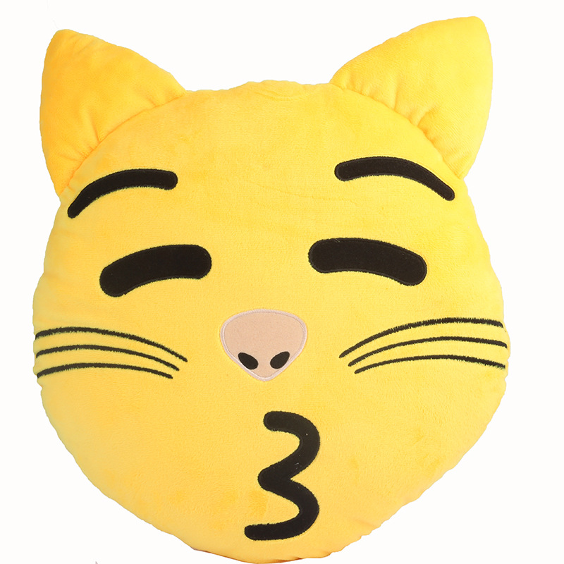2016 new arrival 32cm whatsapp cat emoji pillow kitty emoticon cushion stuffed animal plush toy in stuffed plush animals from toys hobbies on