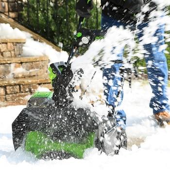 Greenworks Ã�ロ 20 Â�ンチ 80 18v Â�ードレス雪の投げ付属 5.0 Á�あバッテリー