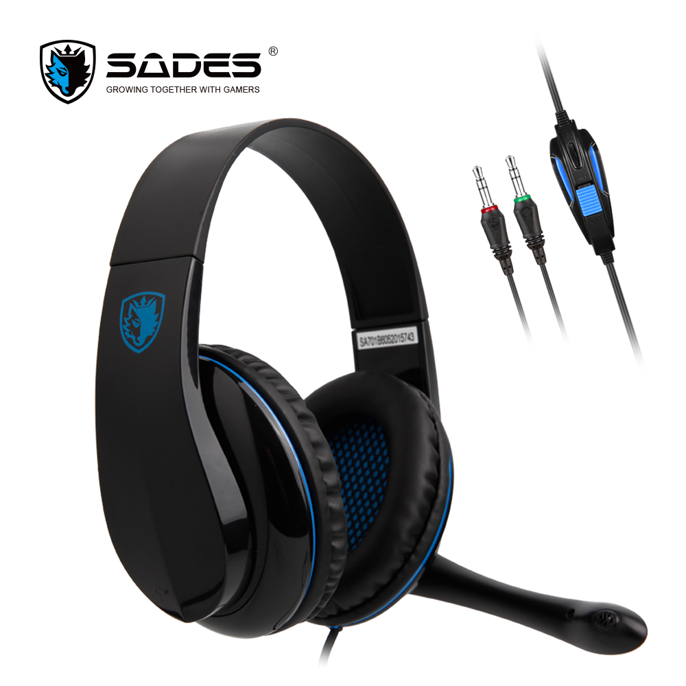 SADES TPOWER Stereo Sound Wired Gaming Headset Ultralight Headphones 3.5mm For PC/XBOX/PS4 With Rotatable Microphone