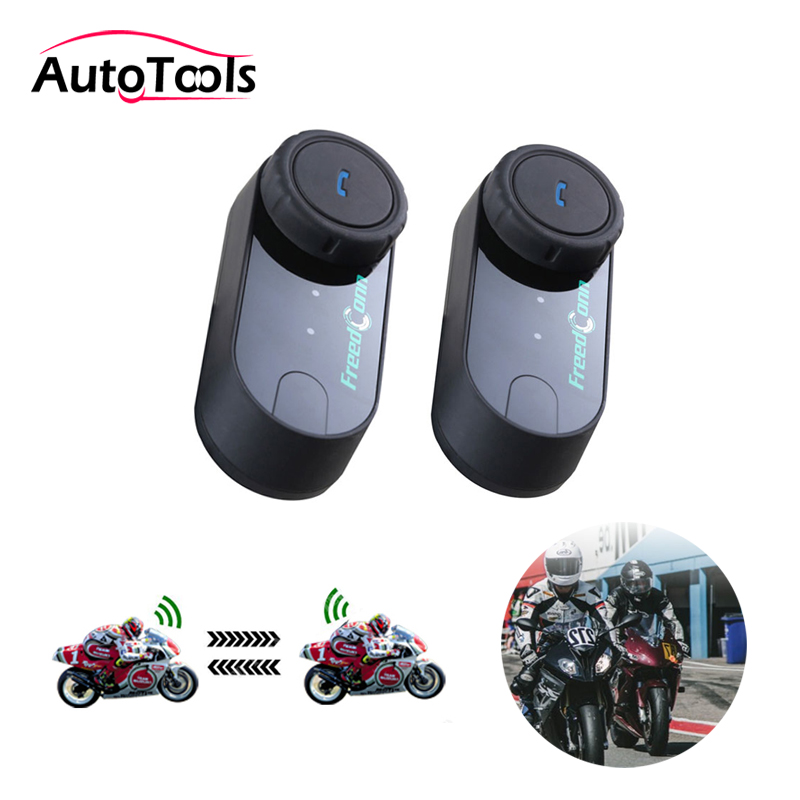 2pcs T-COM VB Motorcycle Helmet Headset Earphone Speaker 800M Intercom Distance Motorcycle Bluetooth Accessories Kit