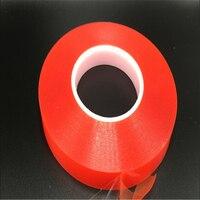 20mm * 50 M Forte animal Adhésif PET Rouge Film Effacer Double Face Bande Aucune Trace pour Téléphone LCD écran livraison gratuite