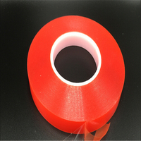 2rolls 20mm 50M Strong Pet Adhesive PET Red Film Clear Double Sided Tape No Trace For