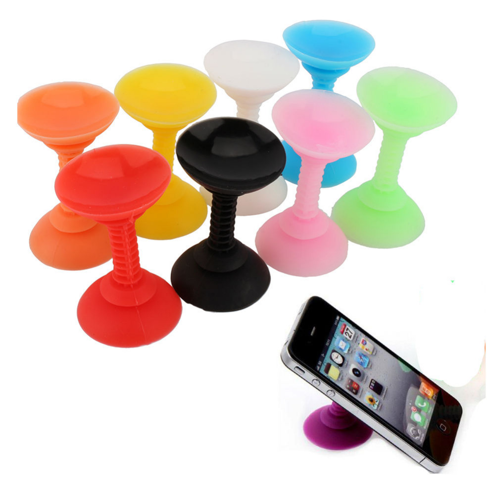New Silicone <font><b>Double</b></font> Sided <font><b>Suction</b></font> <font><b>Cup</b></font> Phone Holder Sucker Stand For Cell Phones