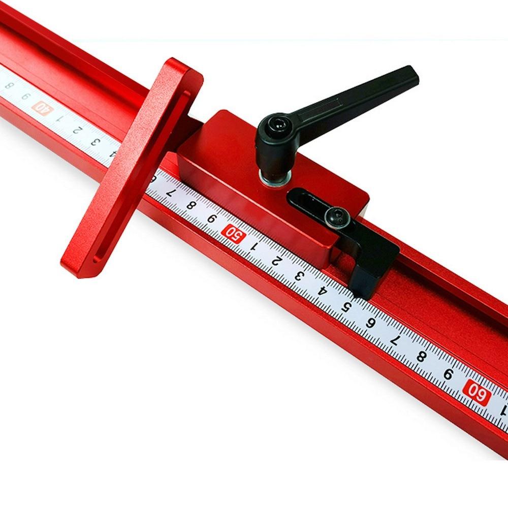 400/600/800MM Chute Pusher T-track 45mm Universal Aluminium Pusher Electric Circular Saw Flip Table Woodworking DIY Accessories