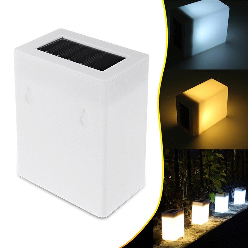 0,2 watt Solar Power Wand Lampe 1,2 v Automatische sensing Post Zaun Garten Led-leuchten Wasserdichte Platz Notfall Lichter