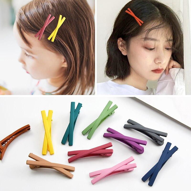 New 10 Pcs Korean Mix Colorful Girl Hairpins For Women Girls Hair Clip Barrettes Princess Children   Headwear   Hair Accessories