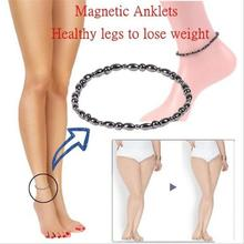 Стимулирующие акупунктурные точки магнитотерапия для похудения ножные браслеты забота о здоровье ног для похудения магнитного гематита растягивающиеся ножные браслеты B3029