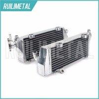 SıCAK Satış Yüksek Kalite Sol Sağ YENI Alüminyum Çekirdekler MX Offroad motokros KTM için soğutma Radyatörleri SX125 2007 07