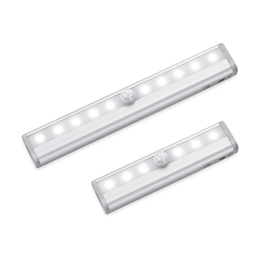 Lights & Lighting Popular Brand Led Under Cabinet Light Pir Motion Sensor Lamp 6/10 Leds 98/190mm Lighting For Wardrobe Cupboard Closet Kitchen Night Light 100% Guarantee