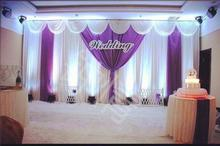 3×6 meter stage backdrop ice silk wedding stage backdrops decoration romantic wedding curtain with swags sequins
