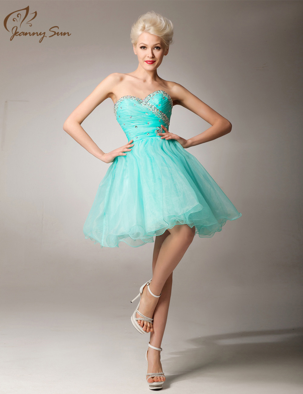 Best Selling Hot Bridesmaid Dress Under $50 Short Green Beaded ...