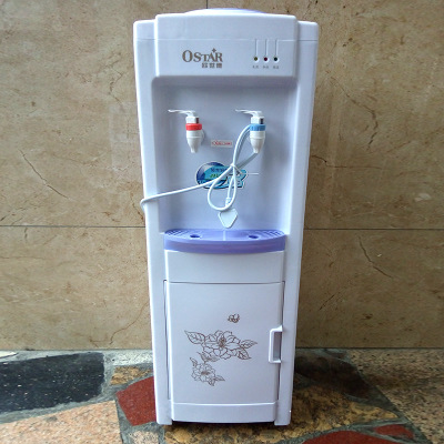 220V Warm Cool Drink Machine Electric Desktop Cooling Icy Water Dispenser Drinking Fountains Watering Bottle Holder