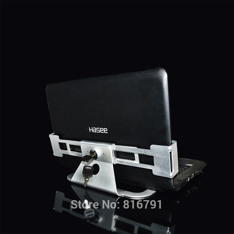 Key Control Laptop Security Display Anti-theft Laptop lock Lap top metal display stand Retail Exhibition Hotel Holder metallic stretch laptop security display stand notebook computer desk mount anti theft lock for all kinds of laptop with keys