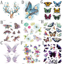 1pc Temporary Tattoo Sticker Waterproof Lifelike Butterfly Body Sternum Fake Tattoo Stickers Tatoo Tatuajes Temporales #b(China)