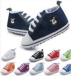 Moda bebê malha sapatos primeiros caminhantes fundo macio sapatos de desporto recém-nascidos sapatos crianças meninos meninas tênis