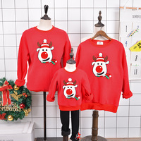 Christmas Sweaters Family Matching Outfits Warm Fleece Dad Mom And Daughter Son Santa Reindeer Outerwear Romper