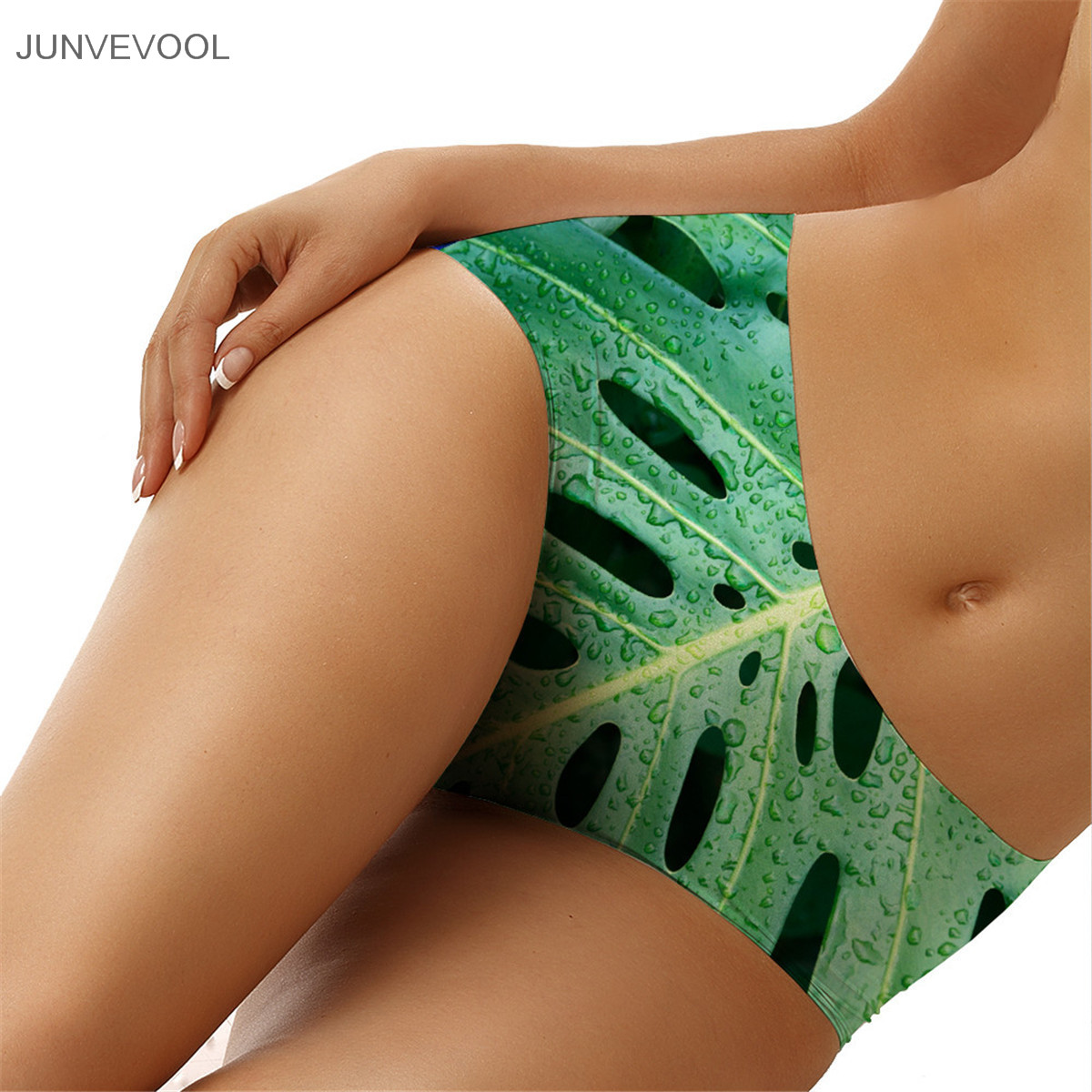 Sexy Panties Cute 3D Women Favourite Underwear Lady Drops Leaves Print Brief Panty Pants High Quality Soft Womens Underpants