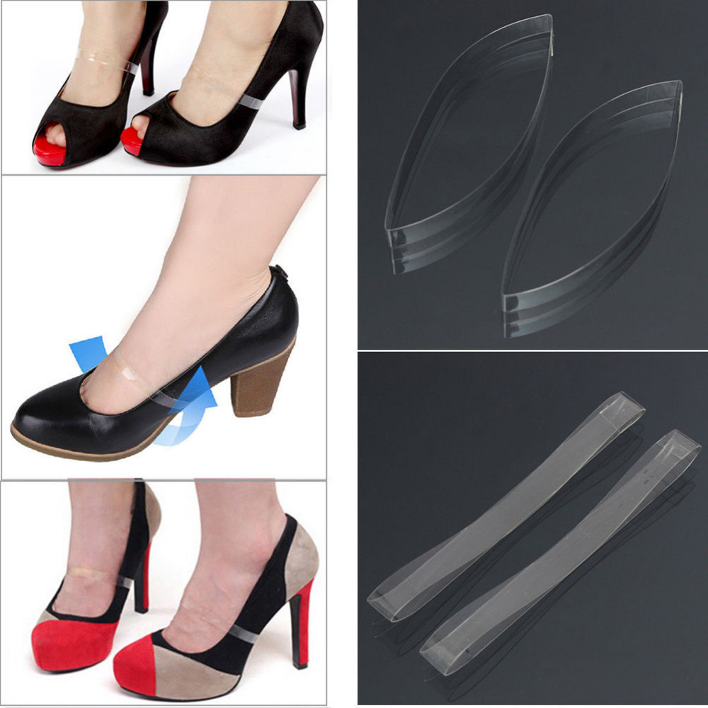 1Pair Invisible Elastic Silicone Transparent Shoelaces For High Heel Shoes, Clear Shoe Laces Shoelace Straps Shoe Accessories