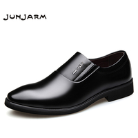 JUNJARM 2019 Mens Dress Shoes European Style Handmade Monk Strap Men Formal Shoes Office Business Wedding Suit Dress Loafers