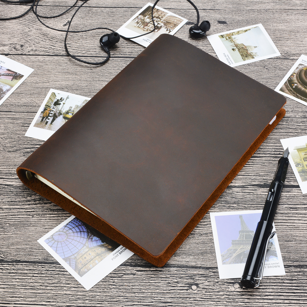 Hot sale Classic Business Notebook A5 Genuine leather cover Loose leaf Journal Diary Traveler Notebook sketchbook planner 2017 hot sale death note notebook