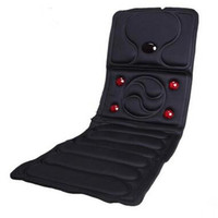 Electric Vibrator Massager Mattress Far Infrared Heating Therapy Neck Back Massage Relaxation Bed Vibrador Health Care