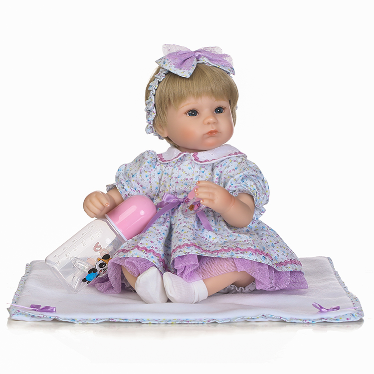 NPK bebes reborn girl 40cm 16 silicone reborn baby dolls purple dress children gift toy dolls fake baby reborn bonecasNPK bebes reborn girl 40cm 16 silicone reborn baby dolls purple dress children gift toy dolls fake baby reborn bonecas