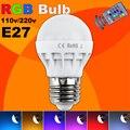 Bajo precio RGB LLEVÓ La Lámpara de E27 3 W LED RGB Bombilla Soptlight 85-265 V Cambio de 16 Colores LED Lampara de Ahorro de energía Con Control Remoto IR A Estrenar