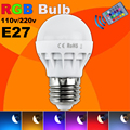 Low price RGB LED Lamp E27 3W LED Bulb RGB Soptlight 85-265V Energy Saving 16 Color Change LED Lampara With IR Remote Brand NEW