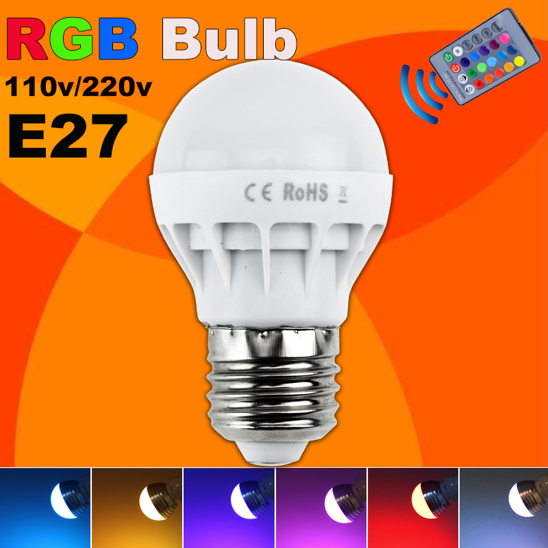 Low Price Rgb Led Lamp E27 3w Led Bulb Rgb Spotlight 85 265v Energy Saving 16 Color Change Led