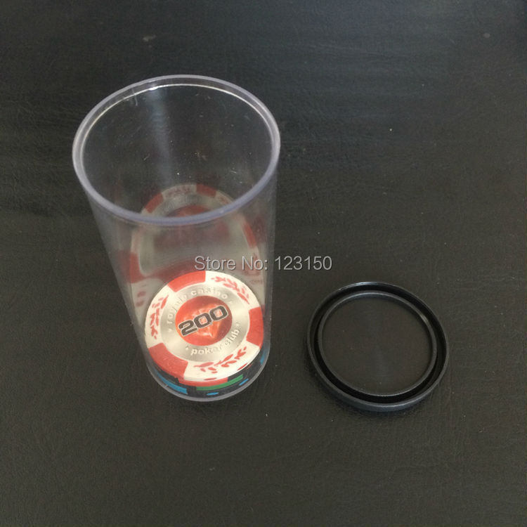 TA-171 Box for holding 25pcs 40mm diameter poker chips, no chips included, 2pcs/lot, Free shipping