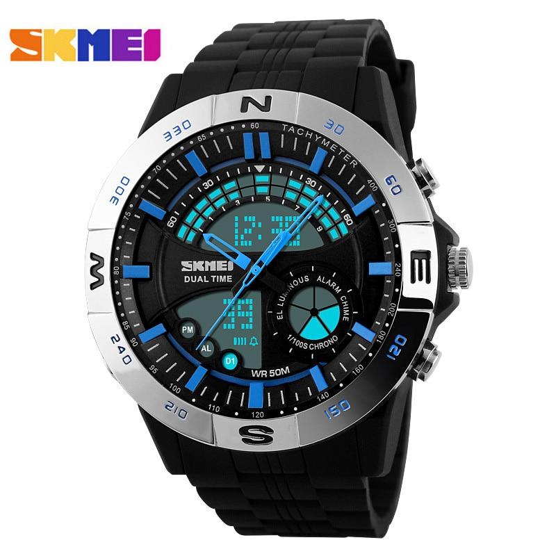 SKMEI Mens Military Sports Watches men Digital LED Quartz watch Rubber Strap wristwatches top brand luxury relogio masculino