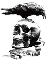 Free Shipping Leg Makeup Body Art Skull & Crow (Expendable) Cool Tough Man Temp  Tattoo Stickers #r129