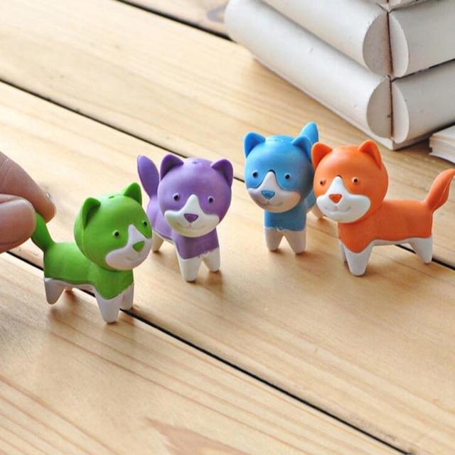 Pz lotto cane cartone animato mini figura animale eraser di