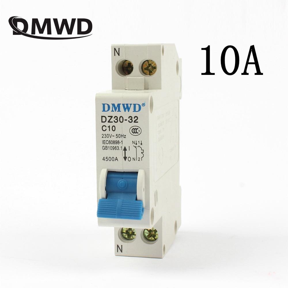 Mini Circuit breaker DMWD DPN mini DZ30-32 1P+N 10A 220V 230V 50HZ 60HZ Residual Current Circuit Breaker RCBO RCCB idpna vigi dpnl rcbo 6a 32a 25a 20a 16a 10a 18mm 230v 30ma residual current circuit breaker leakage protection mcb a9d91620