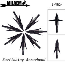 3/6/12pcs Archery Bowfishing Arrowhead Stainless Steel Broadheads 2 Blade Target Arrow Point Tips Outdoor Shooting Accessories
