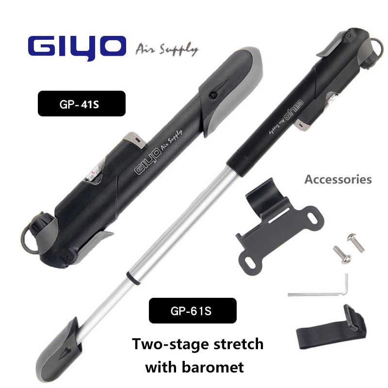 Pompka do rowera GIYO GP-41S/61 S Made in Taiwan manometr górski Mini pompka do roweru akcesoria rowerowe (A/V) (F/V)