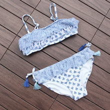 Girls Swimsuits Two-pieces New 2019 Print Swimwear For Girls Summer Beach Wear Children Girl Bathing Suits H2(China)