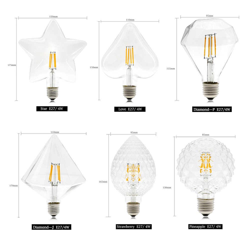 E27/E14 светодиодный лампа Эдисона 2-8 W ST64 G80 G95 G125 Фейерверк лампы старинная светодиодная нить лампы 220 V праздничное декоративное освещение