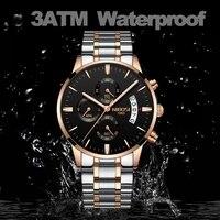 NIBOSI Luxury Waterproof Full Steel Quartz Gold Watch 2