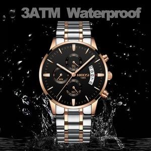 Image 3 - NIBOSI reloj deportivo para hombre, cronógrafo, resistente al agua, de cuarzo, dorado, Masculino
