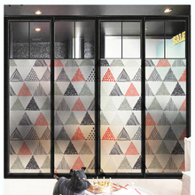 Frosted window stickers geometric anti-glare bedroom frosted glass film bathroom client door