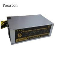 Pocaton 1800W Mining Machine Power Supply For Eth Bitcoin Miner Antminer S7 S9 90 Gold Aluminum