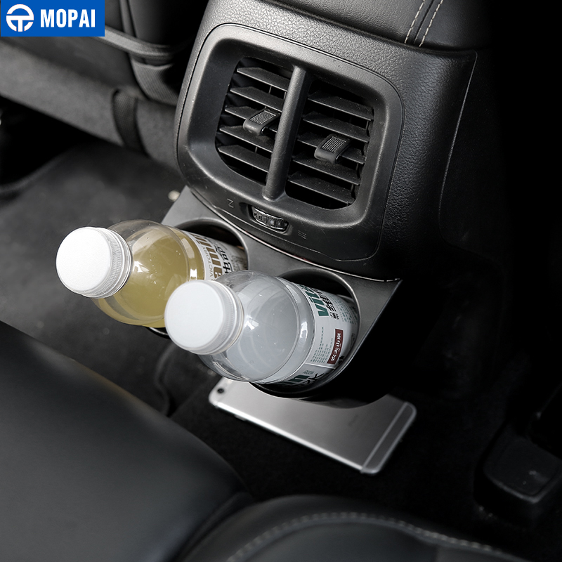Image 2 - MOPAI ABS Car Interior Rear Seat Armrest Drinks Cup Holder Decoration Cover Stickers for Jeep Cherokee 2014 Up Car Styling-in Drinks Holders from Automobiles & Motorcycles
