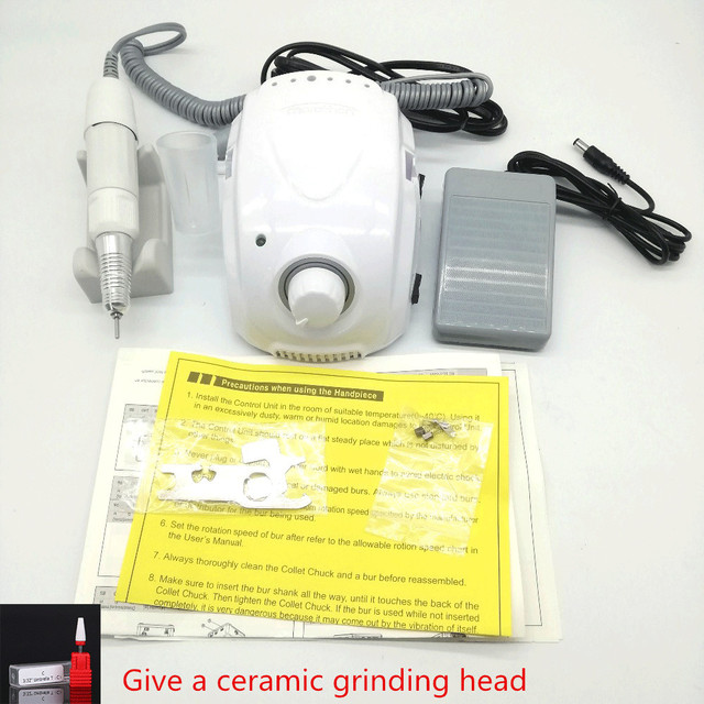 MARATHON Champion 3 STRONG 210 35K Micromotor SDE H20N Handpiece Electric Manicure Drill Set for manicure Nail Drill equipment
