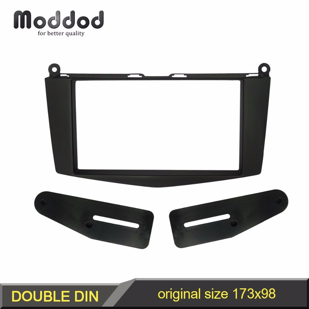 Double Din Stereo Panel for BENZ C CLASS W204 Fascia Black Color Radio Refitting Dash Mounting Installation Trim Kit Face seicane double din audio frame car radio fascia for 2007 mercedes benz c klasse w204 dash cd trim installation kit panel adaptor