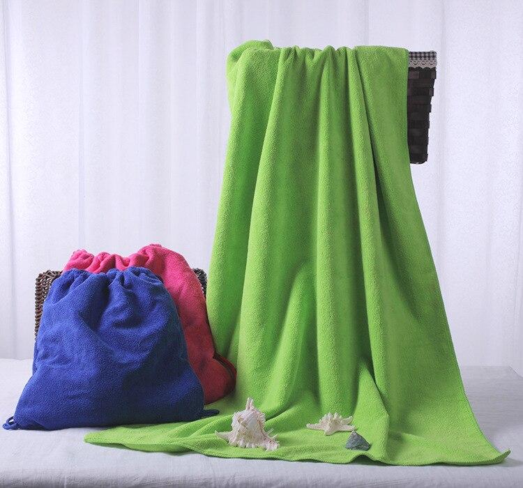 Bath Towels Lots: 100pcs/lot Microfiber Cotton Beach Towel Sacks