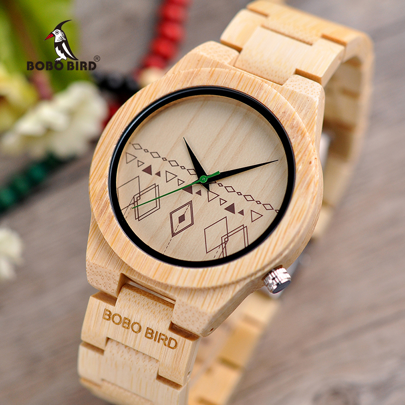 relogio masculino BOBO BIRD Men Watches Bamboo Wooden Timepieces Quartz Wristwatches in Wood Box Accept Logo Drop Shipping