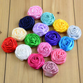 Free shipping, 30 pcs/lot , 3.5cm Satin Multilayer Rolled Rosettes, Satin Rose Flowers for DIY Hair Accessories