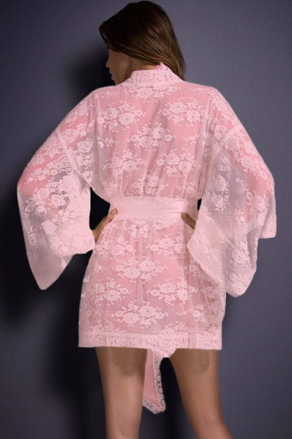Pink-Belted-Lace-Kimono-Nightwear-LC21998-3-2